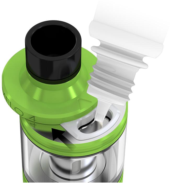 Melo 4 e-sigarett tank med enkel toppfylling
