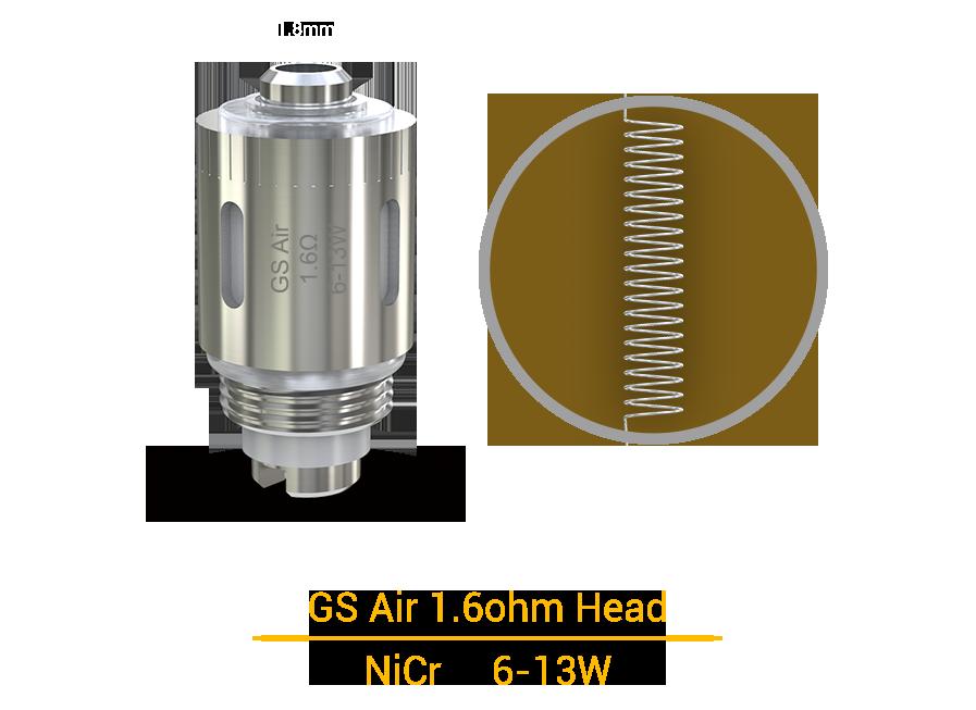 GS Air 1.6ohm Head